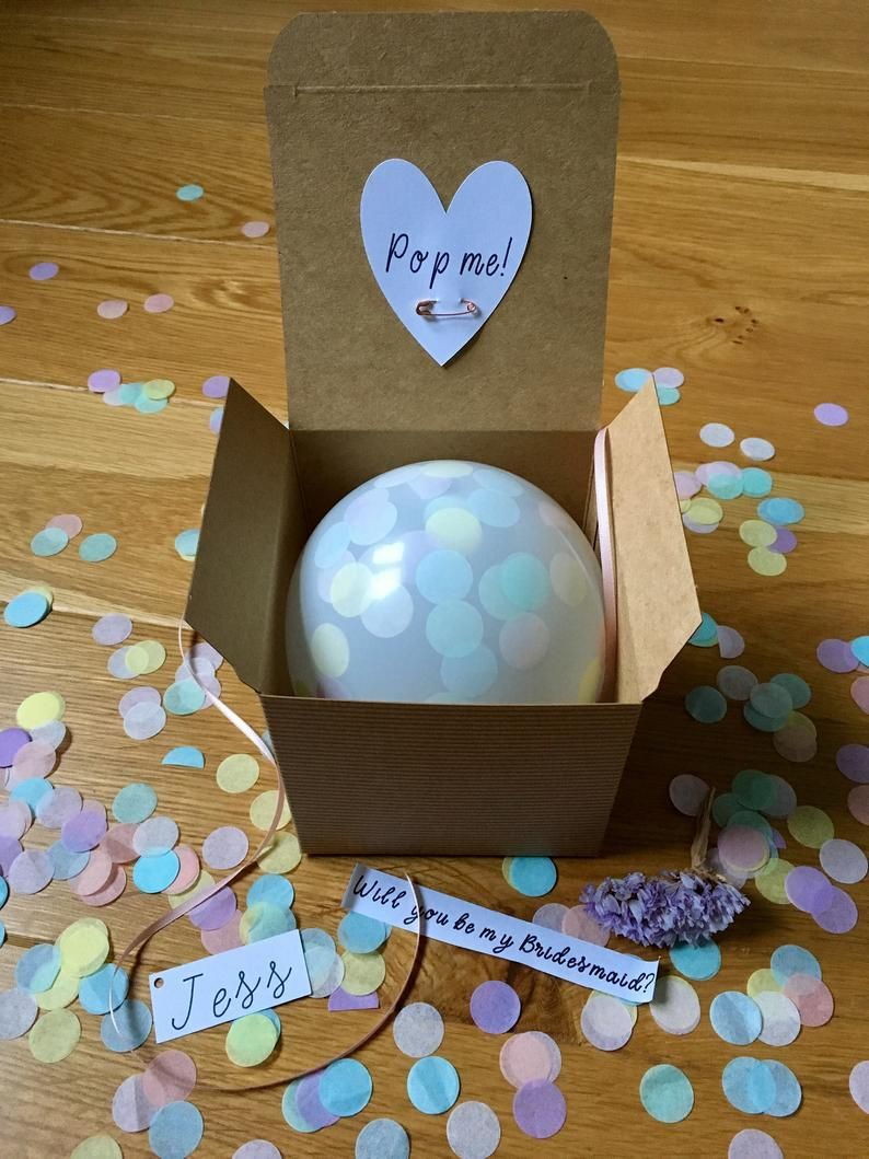 Personalised Balloon in a Box Pop Proposal kit Will you be | Etsy