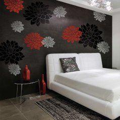 Flowerstencilslargewallstencilsfloralstencil Floral - Giant wall stencil