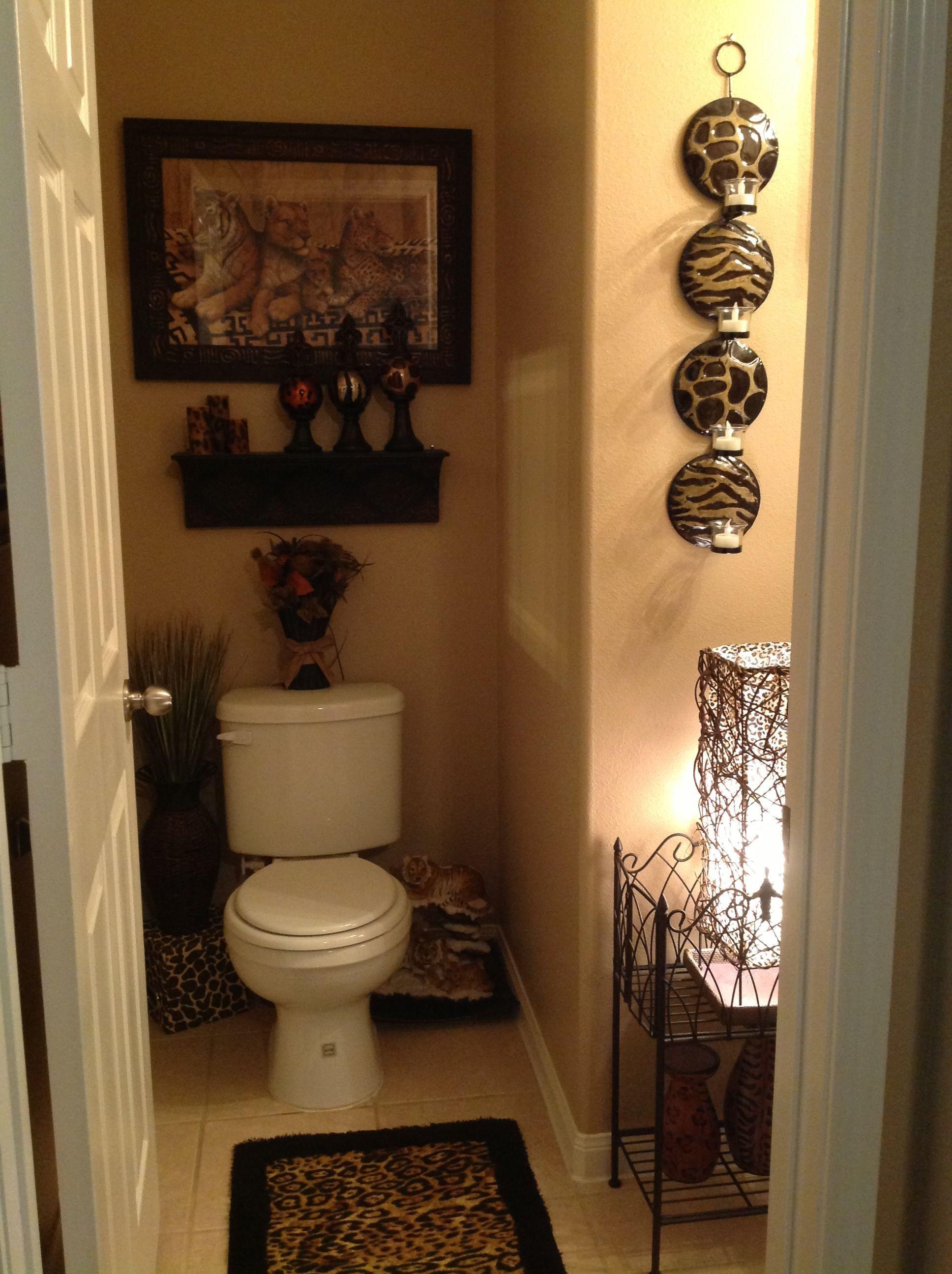 Safari Bathroom for guest bathroom. Brings a cozy, relaxing