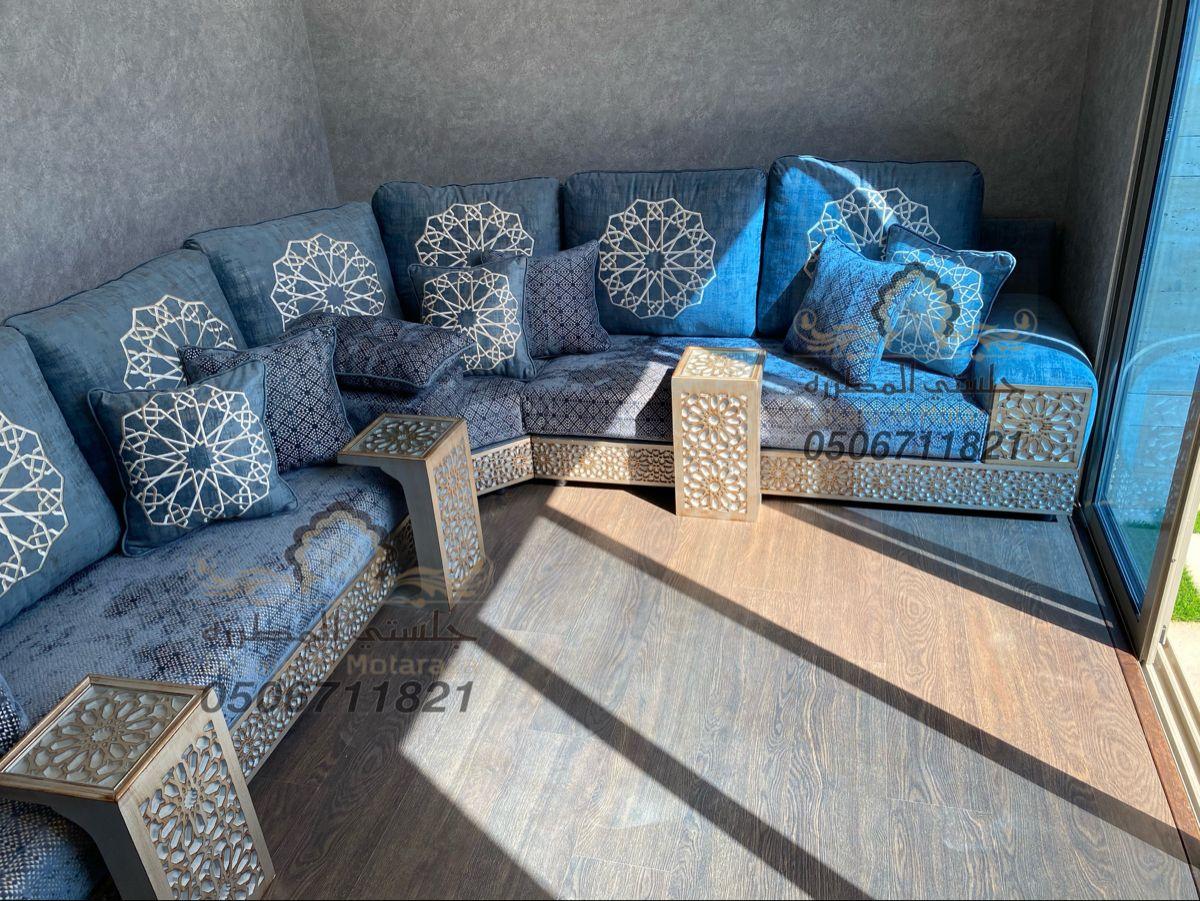 مجلس مغربي ارضي روعة من تصميم وتنفيذ جلستي المطرزة جوال التواصل 0506711821 Home Decor Outdoor Sectional Sofa Outdoor Sectional