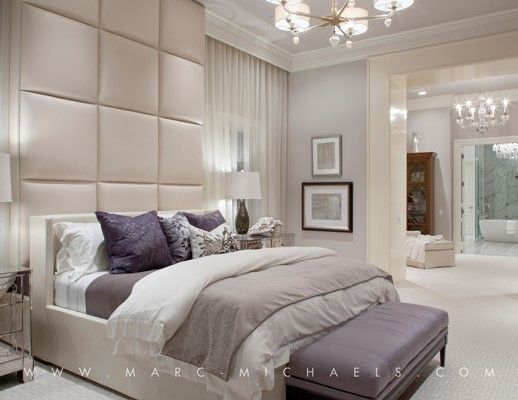 floor to ceiling upholstered headboard / wall panel  06. Furniture  Pinterest