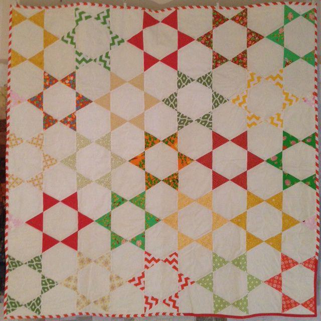 Easy Hexagon Star Quilt | Star quilts, Tutorials and Easy : hexagon star quilt pattern free - Adamdwight.com