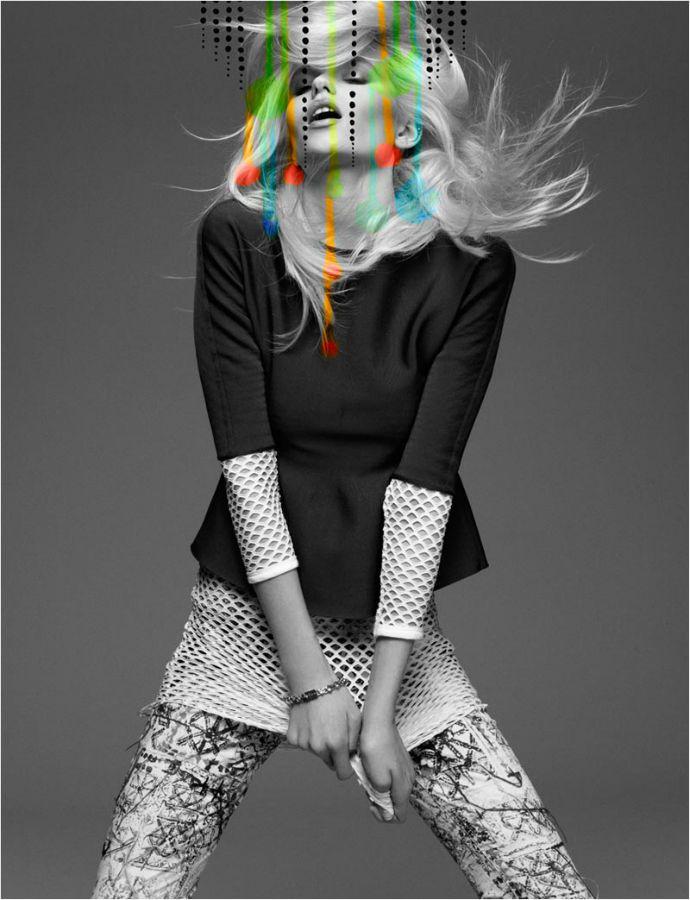 Abbey Lee Kershaw pop art for Numero