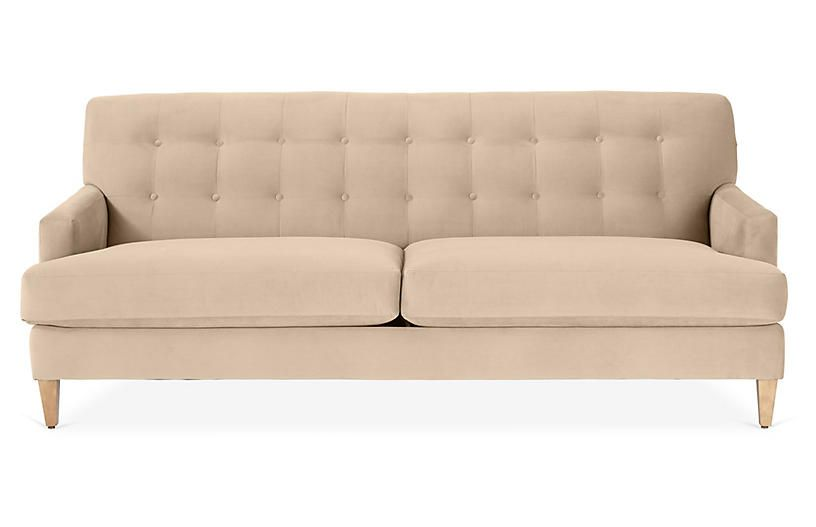Macy Sofa Bisque Crypton Sofa Pink Velvet Sofa Sofa Drawing