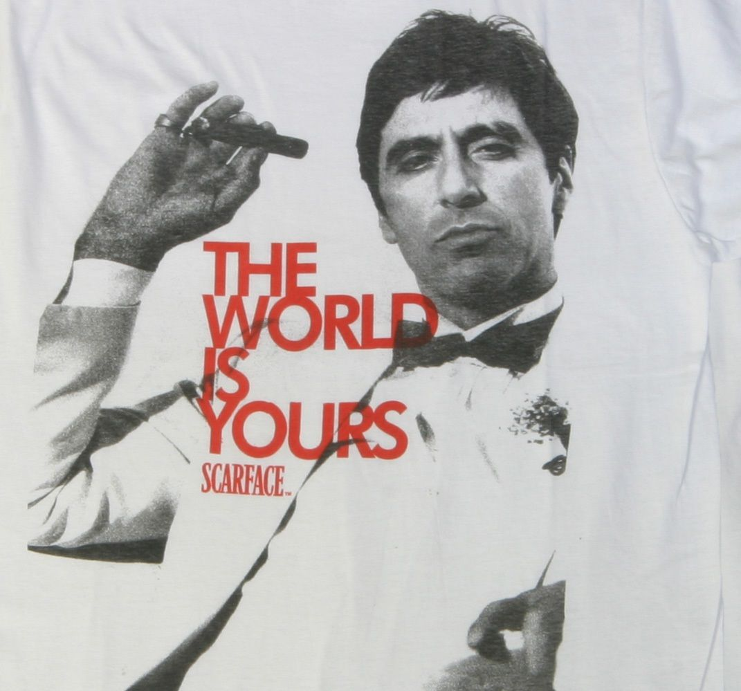 Scarface Wallpaper For Bedroom The World Is Yours Scarfacethe Movie Pinterest The Ojays