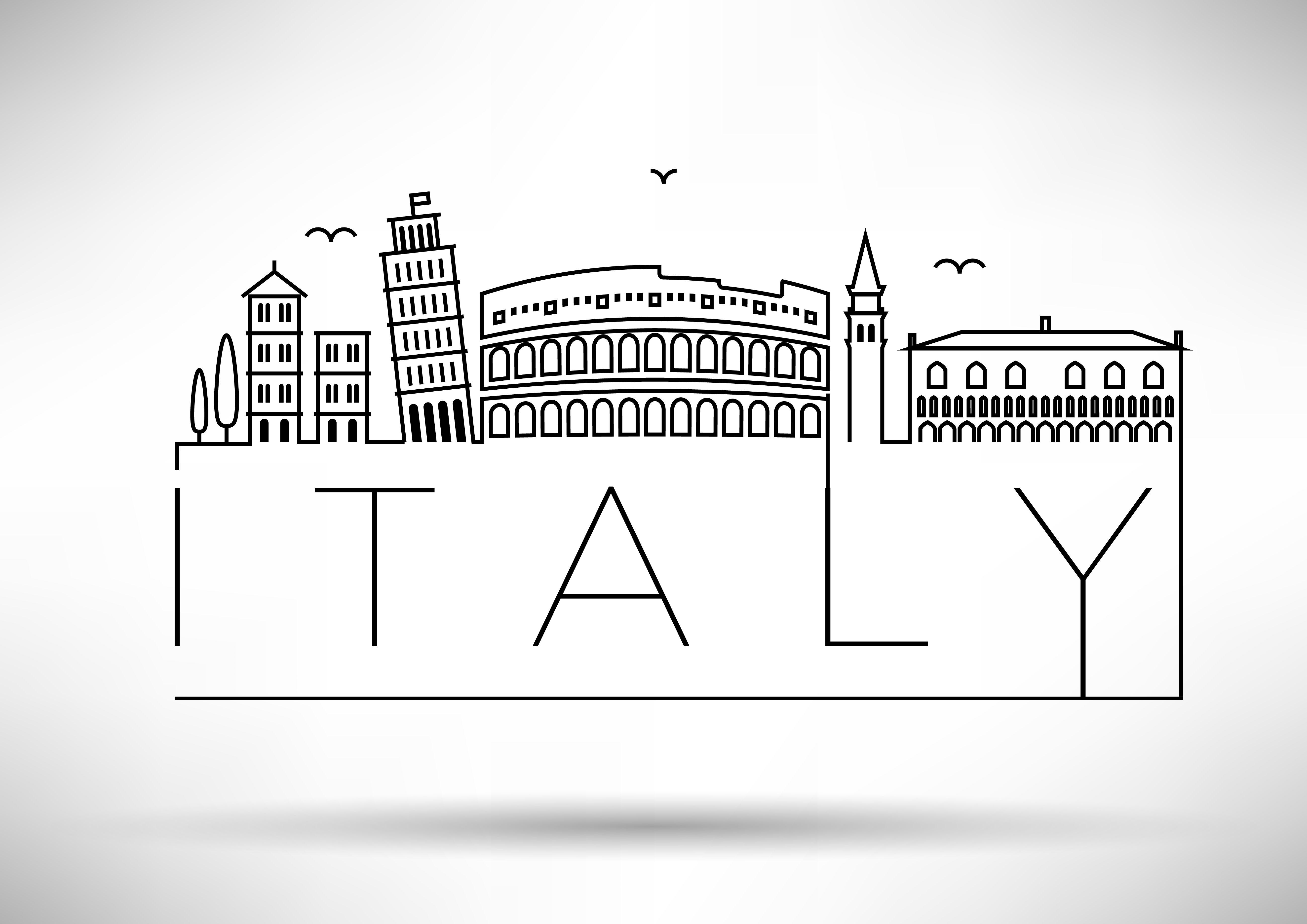 Minimal Italy Skyline