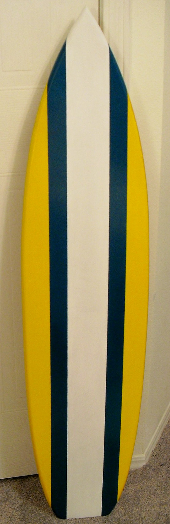 SURFBOARD WALL ART White/teal/yellow by scrollerplus4 on Etsy ...