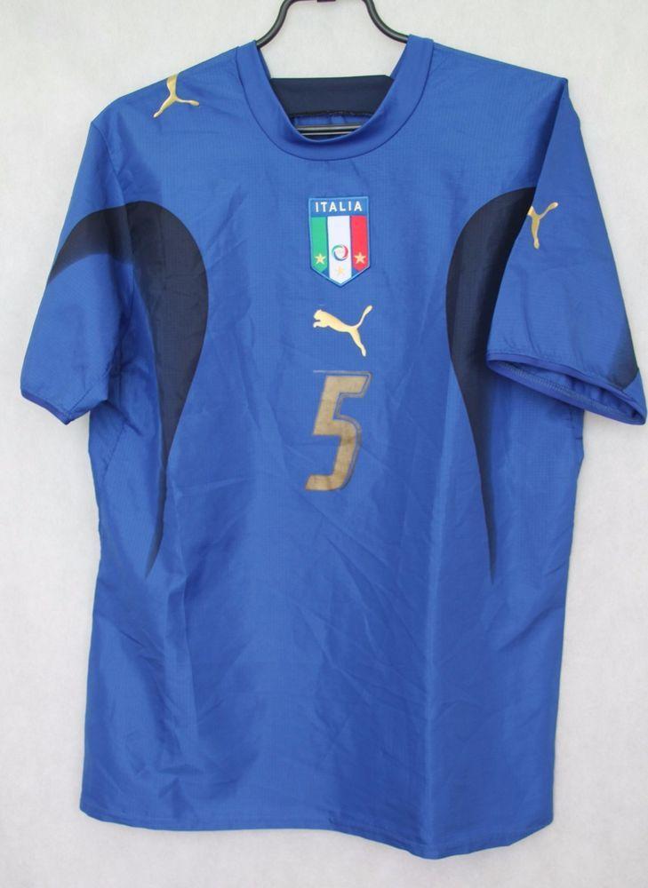 09ae573ad PUMA ITALY FOOTBALL HOME SHIRT JERSEY 2006 CANNAVARO sz M MAGLIA TRIKOT  (053)…