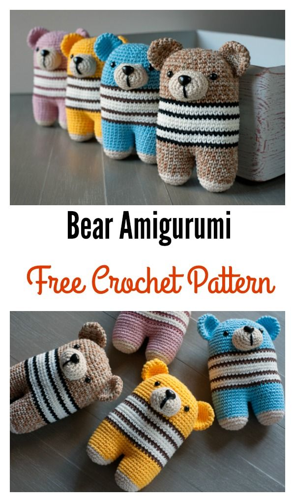 Adorable Bear Amigurumi Free Crochet Pattern | Pinterest | Häkeln ...