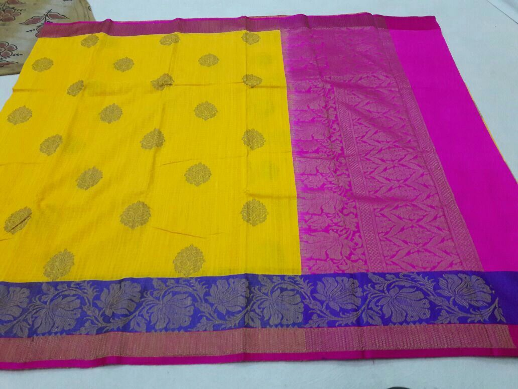 Handloom banarasi pure dupion silks sarees. What's app for