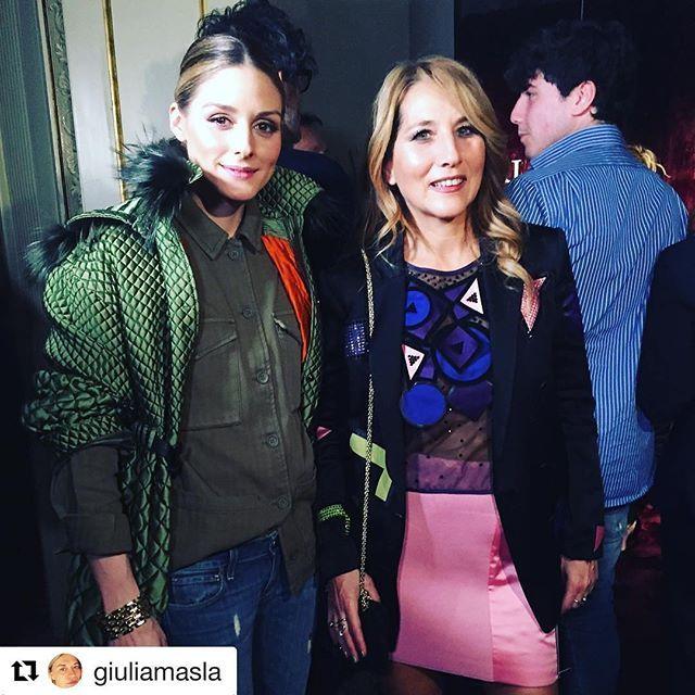 #Repost @giuliamasla  So happy to have Olivia Palermo and Jo Squillo attending Le Silla presentation #oliviapalermo #gmpr #mfw #mfw2017 #lesilla #gmprteam #vip #fashionweek #presentation #instafashion