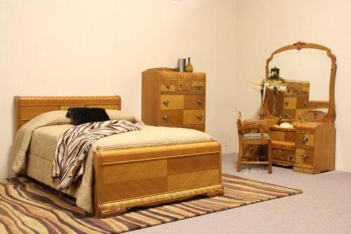 Art Deco Waterfall Bedroom Set