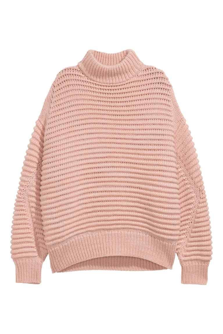 Jersey en mezcla de lana - Rosa empolvado 39 d711d44933c4