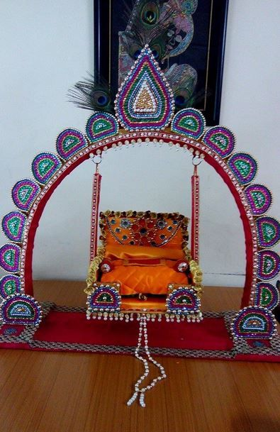 Janmashtami Jhula Decoration Ideas Indian Festival Decor Ideas Pinterest Decoration Craft