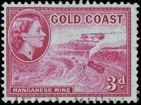 Königin Elisabeth II. - Manganerz-Tagebau bei Nsuta