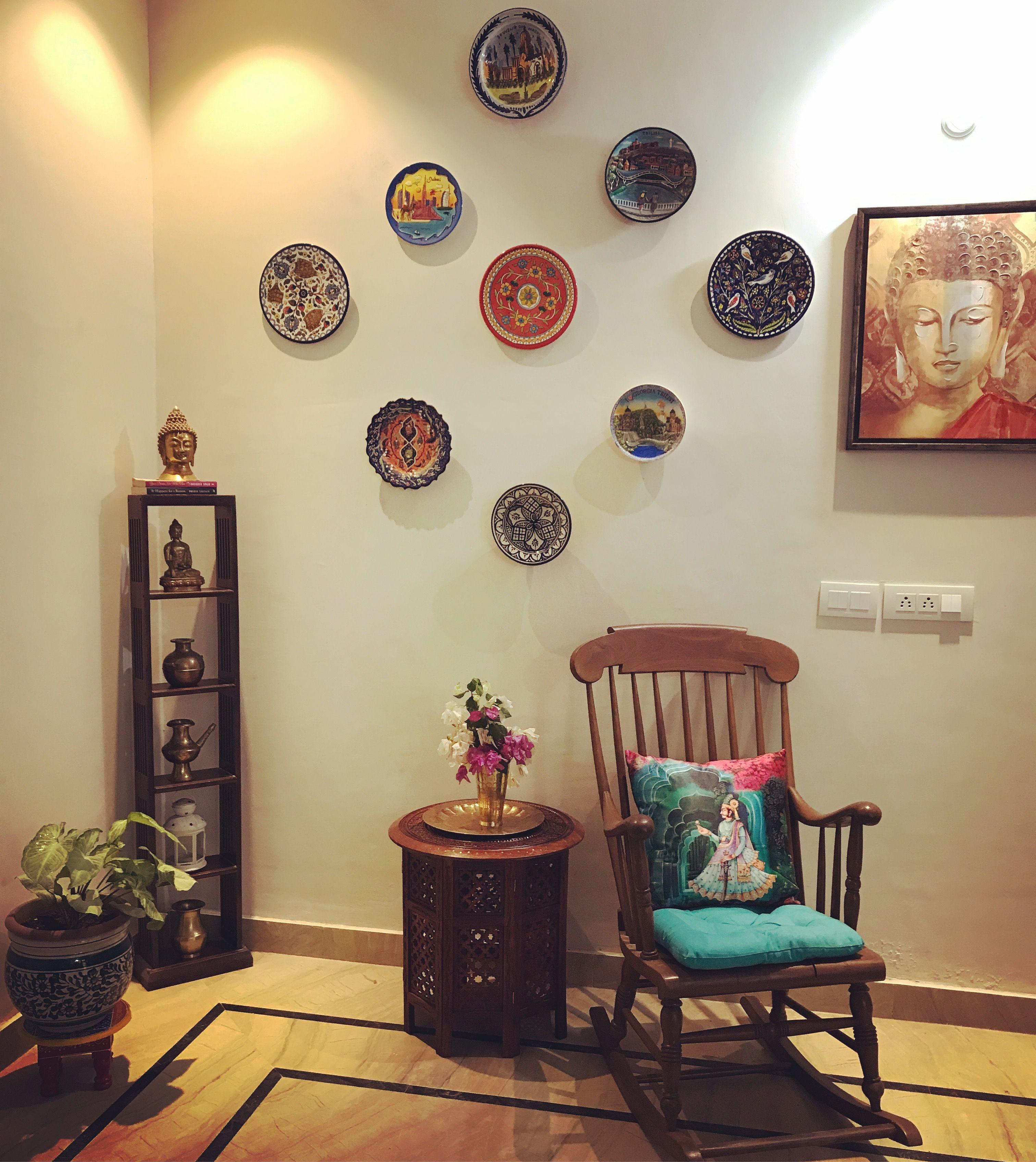 Plate wall #wallplate #plates #imdianhomedecor #walldecor