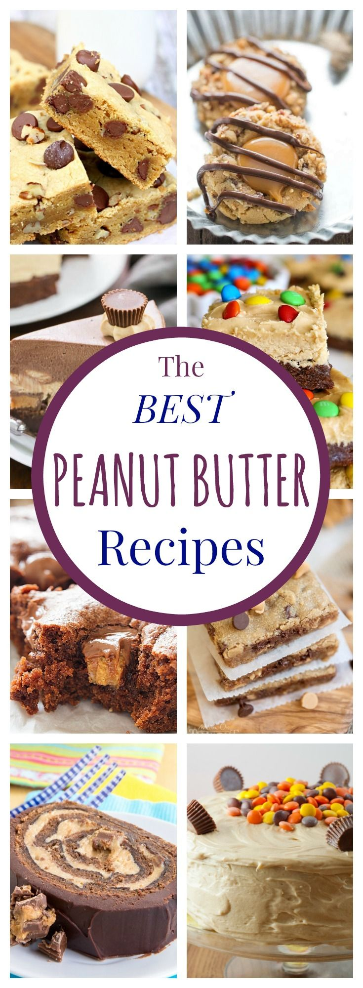 Over 30 of the Best Peanut Butter Recipes - cookies, bars, cakes, snacks, even some dinner recipes!