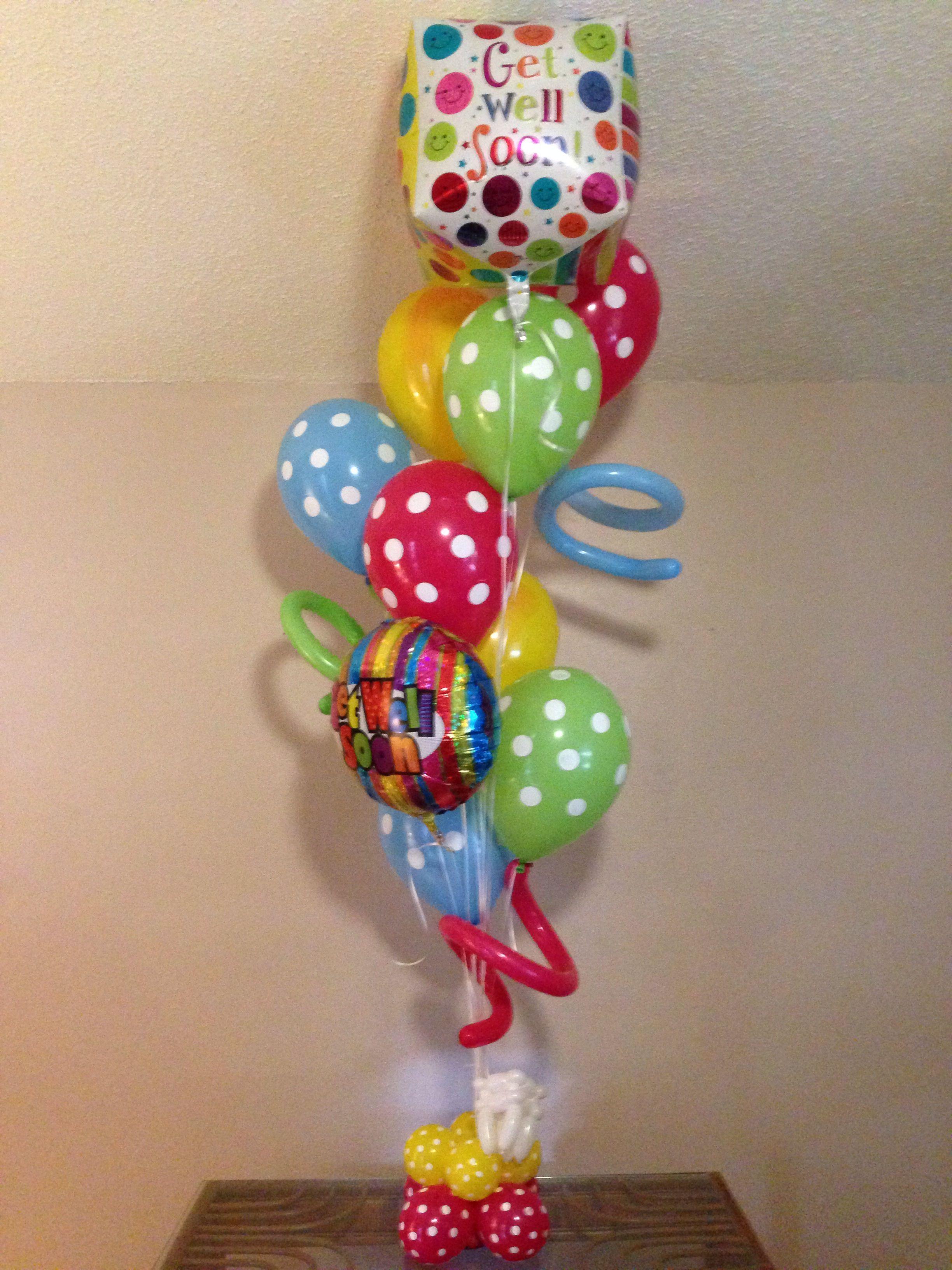 Get Well Balloon Bouquet Get Well Balloons Balloons And More Balloon Bouquet