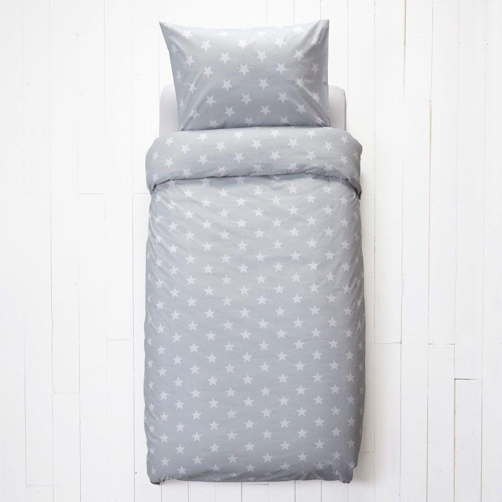Kids rooms. Kids  Duvet Set  Grey Star  Single   Bedding   Duvet Covers   Room
