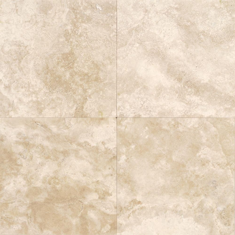 Daltile Travertine Torreon 12 in. x 12 in. Natural Stone Floor and ...