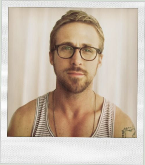 Ryan Gosling very cute with glasses