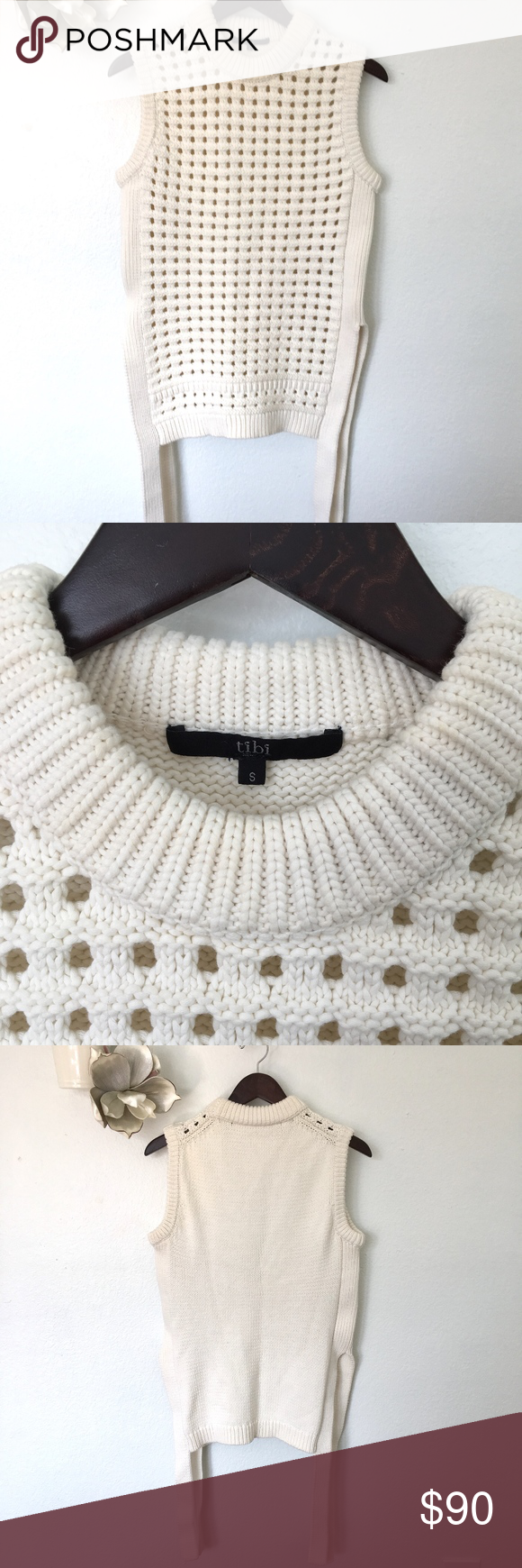 Tibi Chunky Cable Knit Sweater Vest Chunky Cable Knit Sweater Knitted Sweaters Oversized Knitted Sweaters