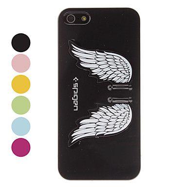 Angel Wings Design høj kvalitet Hard cover med holder til iPhone 5 (blandede farver)