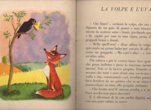 Esopo e la volpeu d al museo della figurina di modena cartoonist