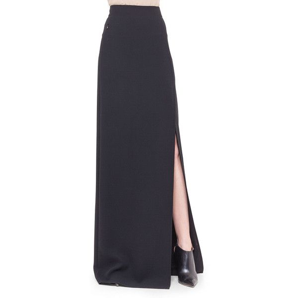 Akris Double-Faced Side-Slit Long Skirt ($597) ❤ liked on ...
