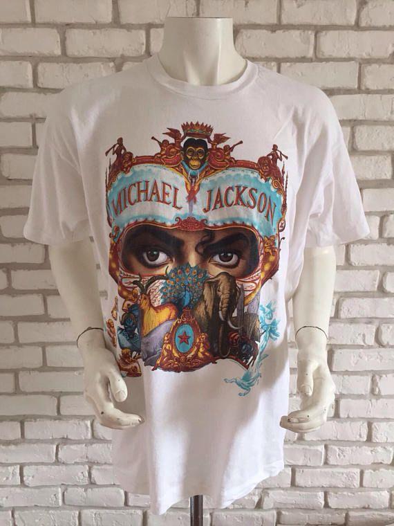 879488f4c63 1992 vintage Michael Jackson dangerous european tour tee shirt ...