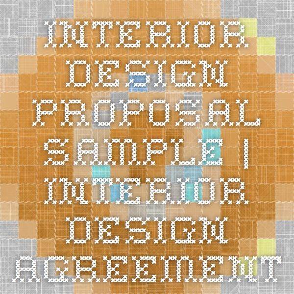 Interior Design Proposal Sample Interior Design Agreement