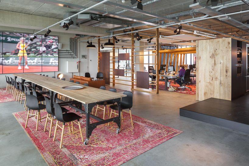 d+z architecten transforms warehouse into homey office in