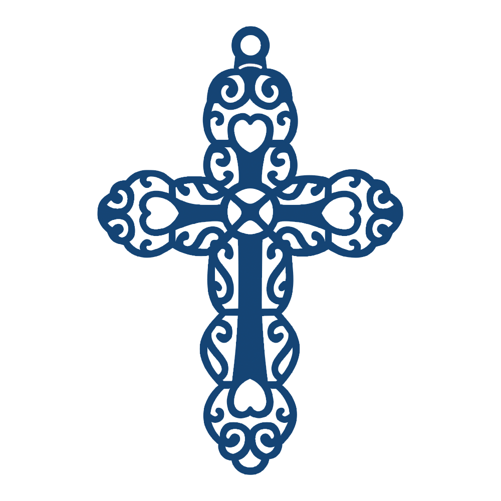 Small Cross (D212) Tattered Lace*vector Tattered lace