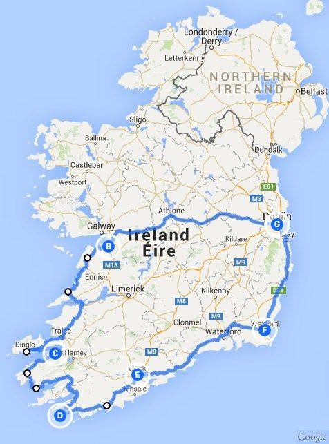 irland rundreise karte Rundreisen,Auto,Autorundreisen,Rundreisen mit dem Auto | gruene
