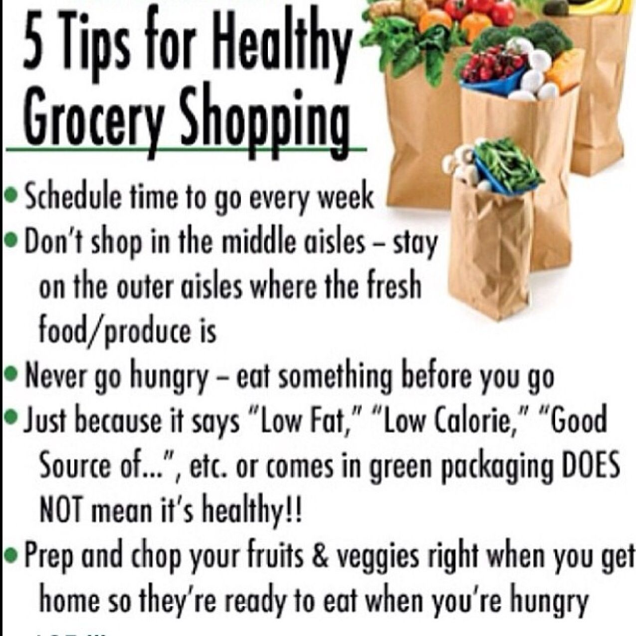 Tips for healthy grocery shopping
