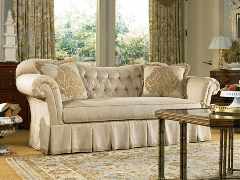 Harden Furniture Upholstery   Artisan Tufted Sofa With Roll Arms