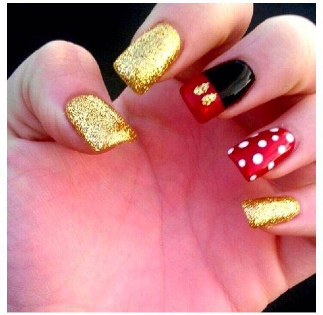 Minnie | Disney nails | Pinterest | Minnie, Diseños de uñas y ...