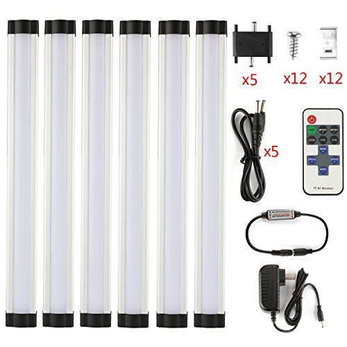 LXG Dimmable LED Under Cabinet Lighting 18W 2700K Warm White 1600LM Milk  Cover Led Strips11key IR