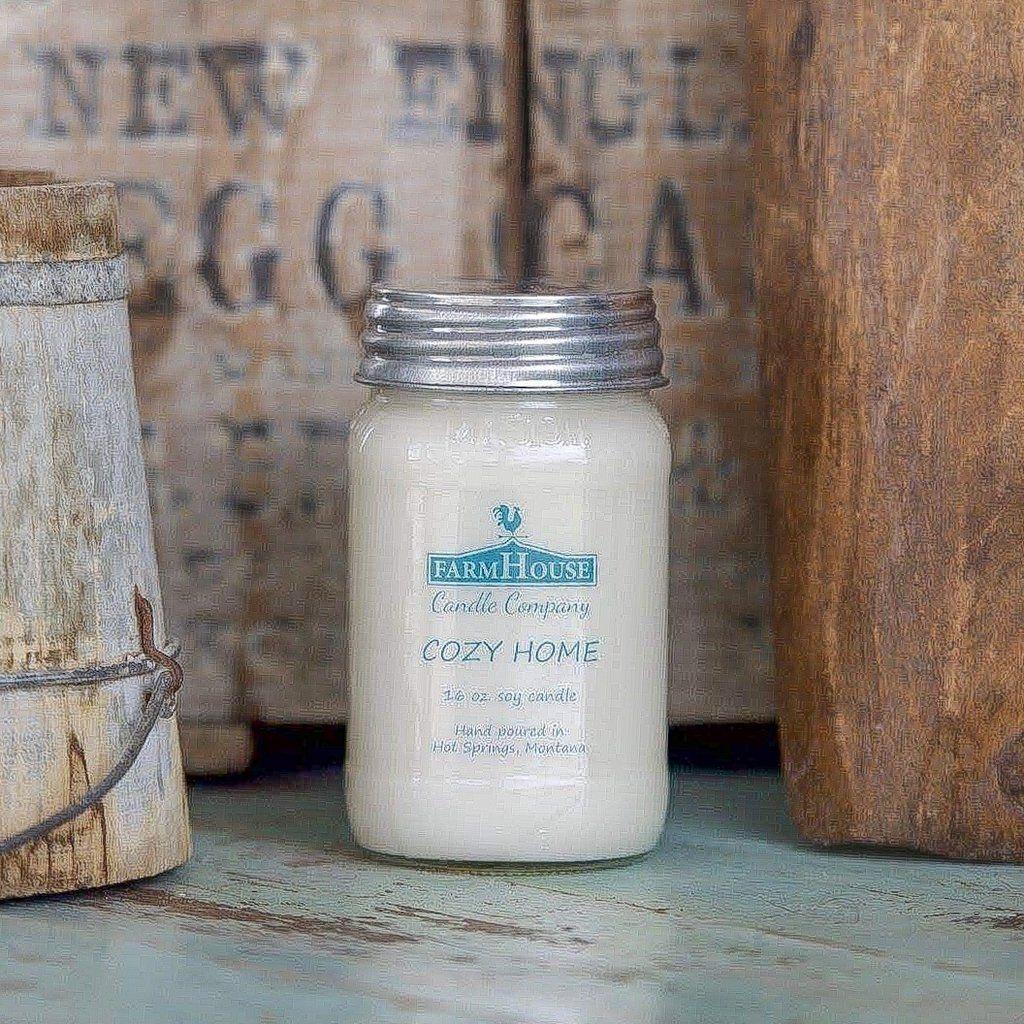 Cozy home farmhouse mason jar candle mason jar candles