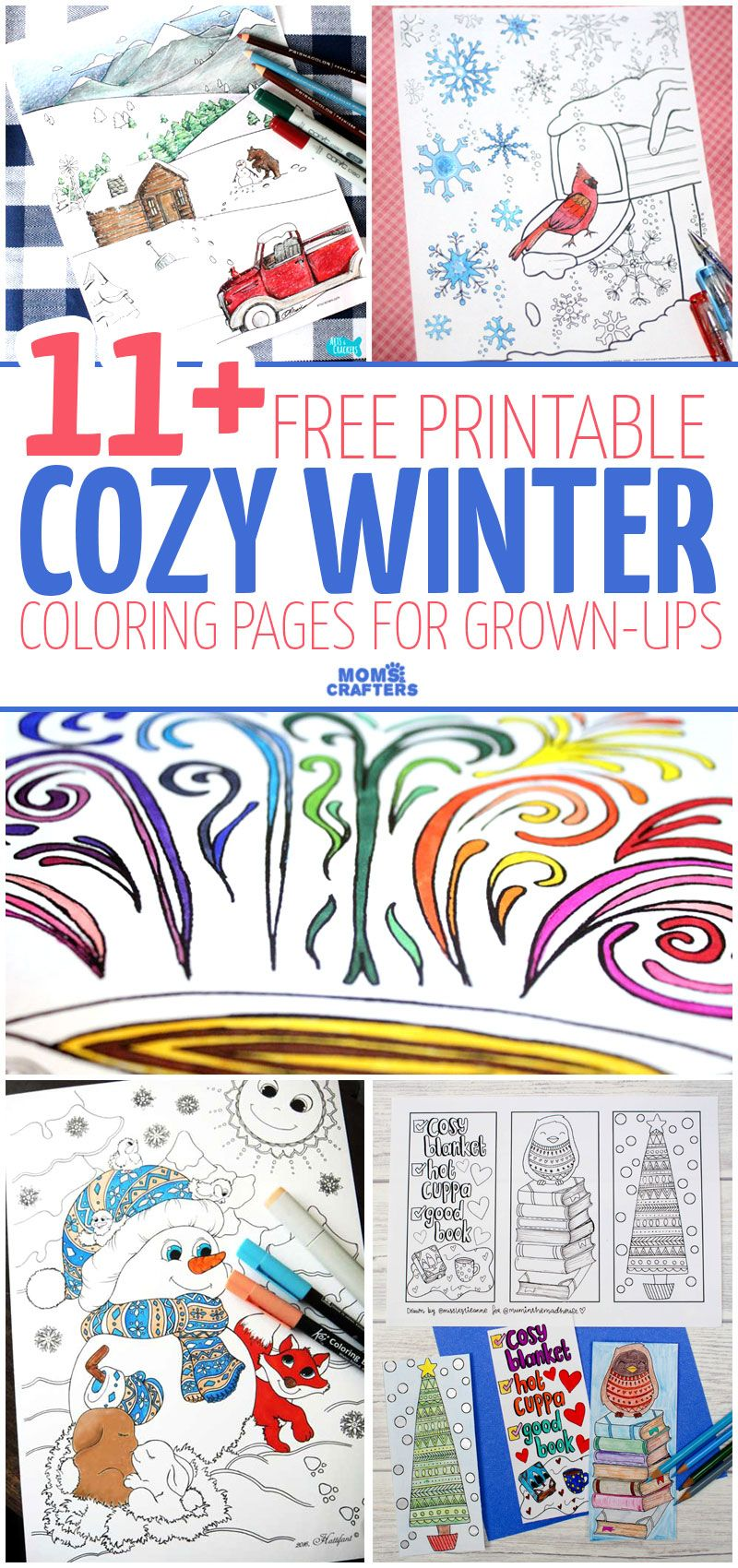 Winter Coloring Pages for Grownups! Coloring pages for