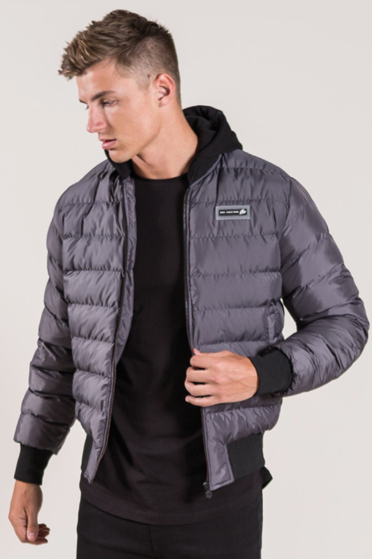 Lazeon Bomber Jacket Grey Mens Outdoor Jackets Jackets Gray Jacket [ 1500 x 1000 Pixel ]