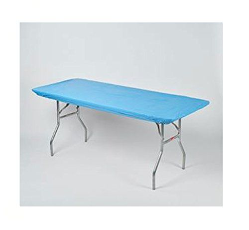 Kwik Covers 30 X 72 Light Blue Fitted Table Cover Single