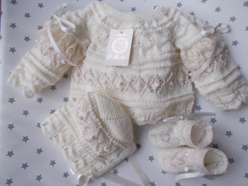 Conjunto Varios Colores Ceremonia 0 3 Meses Ropa De Bebé Hecha A Mano Ropa Tejida Para Bebe Vestimenta De Bebé