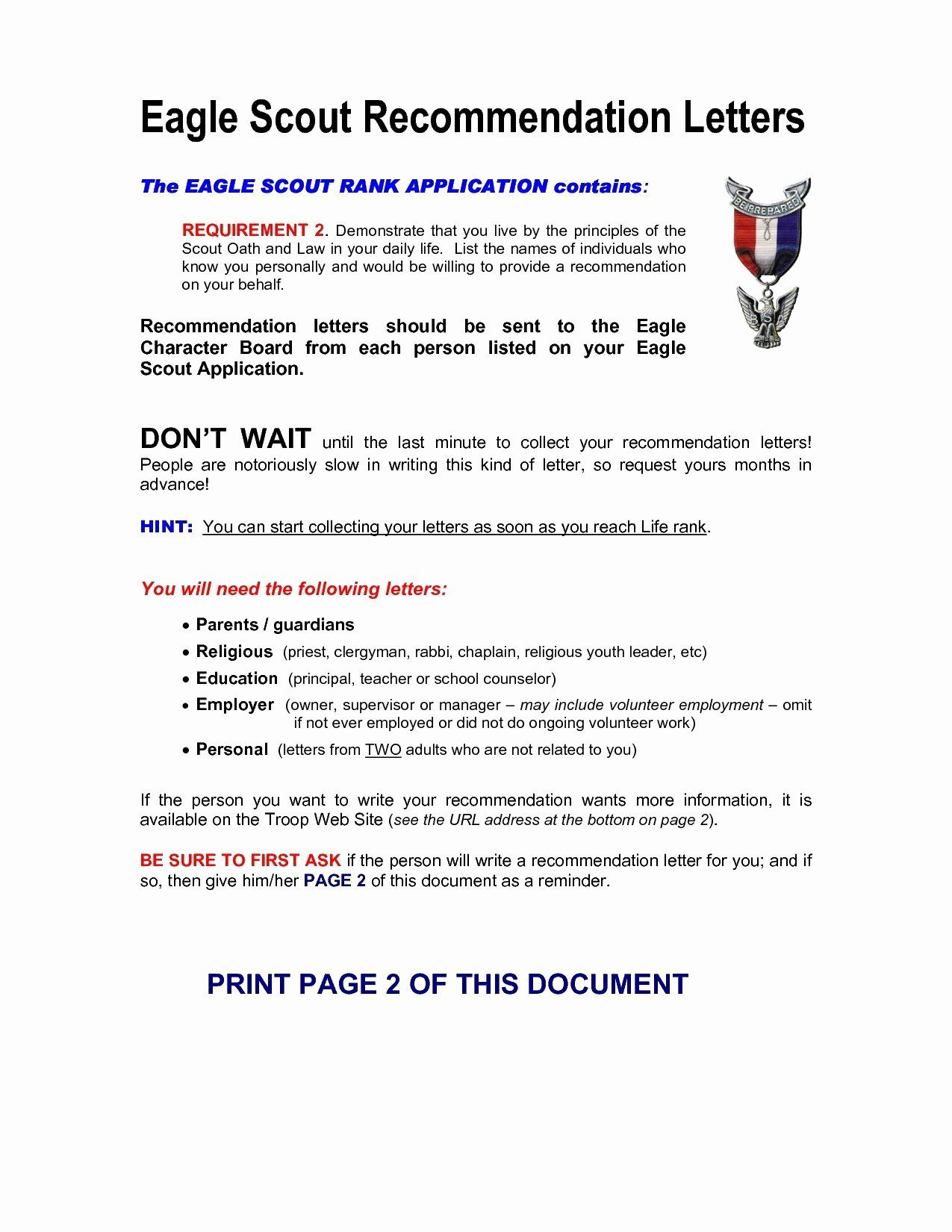 Eagle Letter Of Awesome Eagle Scout Re