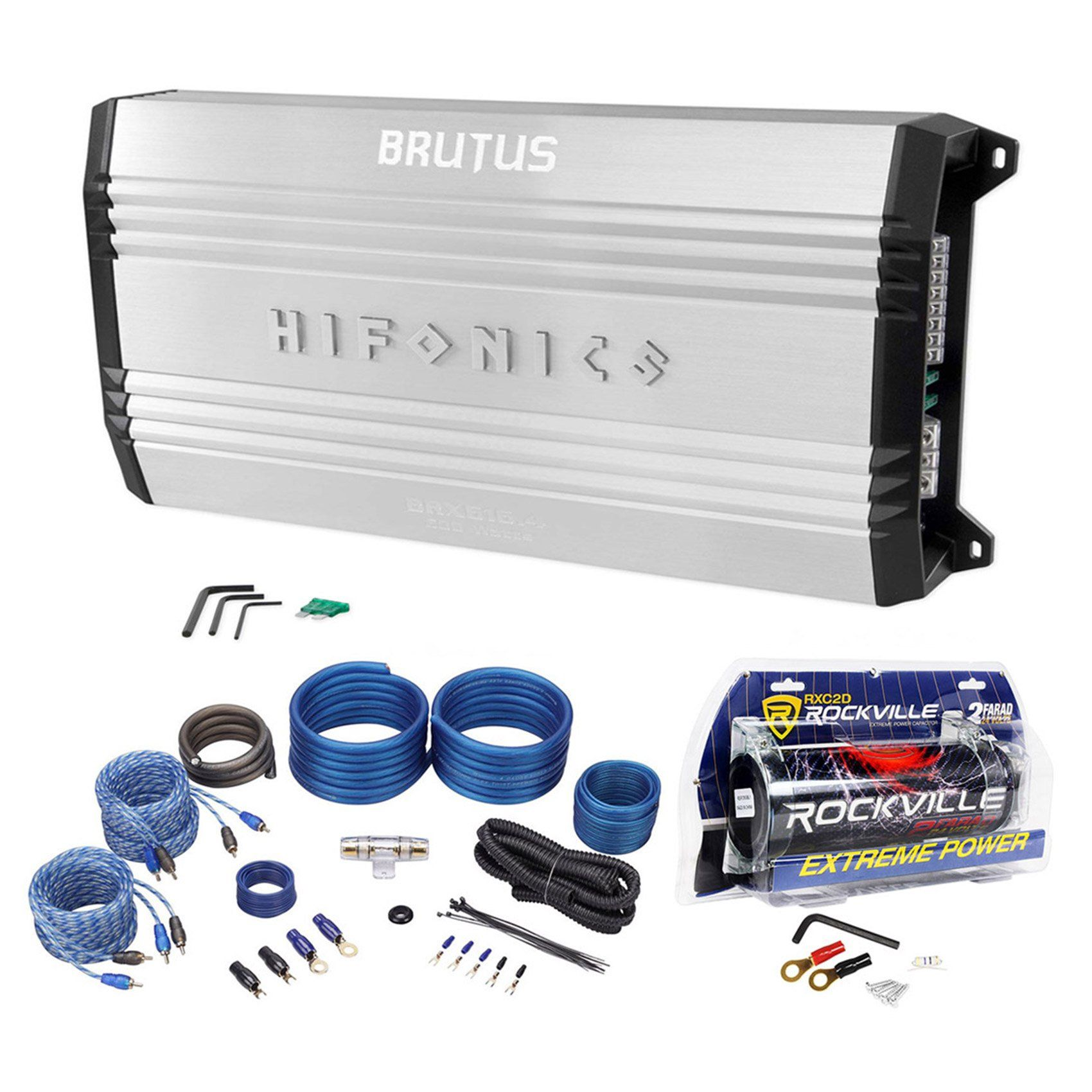 Package: Hifonics Brutus BRX616.4 600 Watt RMS 4 Channel Amplifier ...