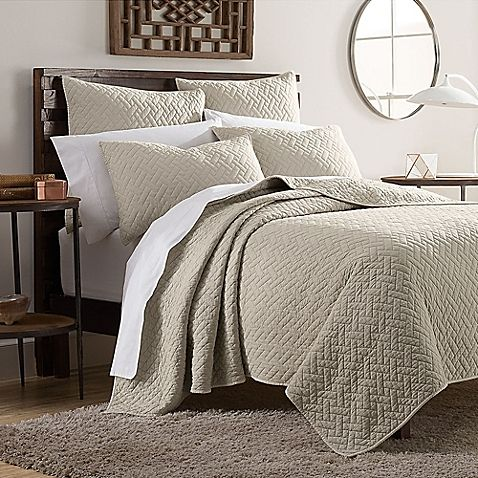 Kennedy Full Queen Quilt Set In Taupe Hotel Bedding Sets Home Quilt Sets