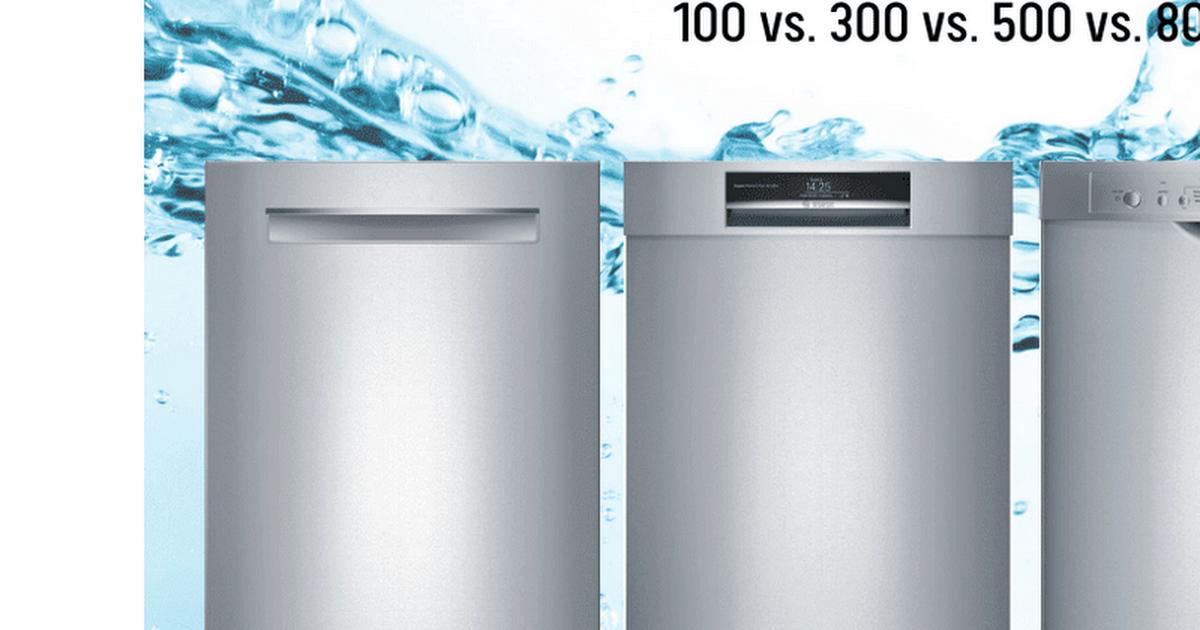 Bosch Dishwasher Review 100 Vs 300 Vs 500 Vs 800 Series Minis Cong Nghiệp Khau