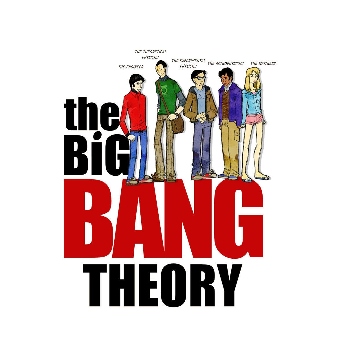 Camiseta chica The Big Bang Theory. Personajes 290a4850f54ba