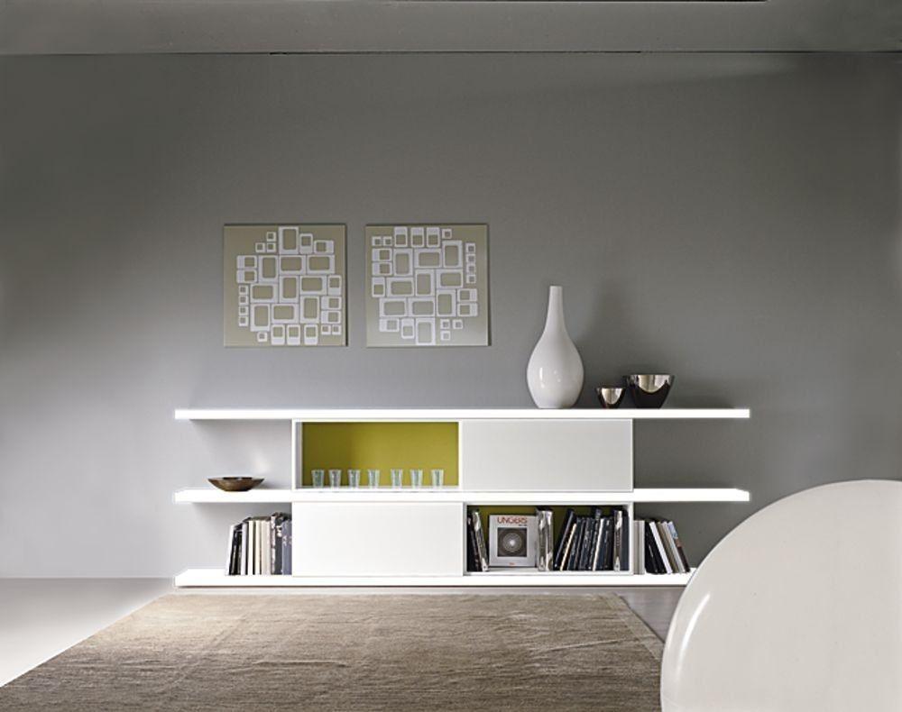minimalist design lacquered low shelf EVOLUZIONE NEXT ART. E/27 VISENTIN GIUSEPPE