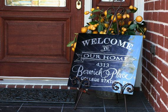Personalized Family Front Door Welcome Sign Customized With Your